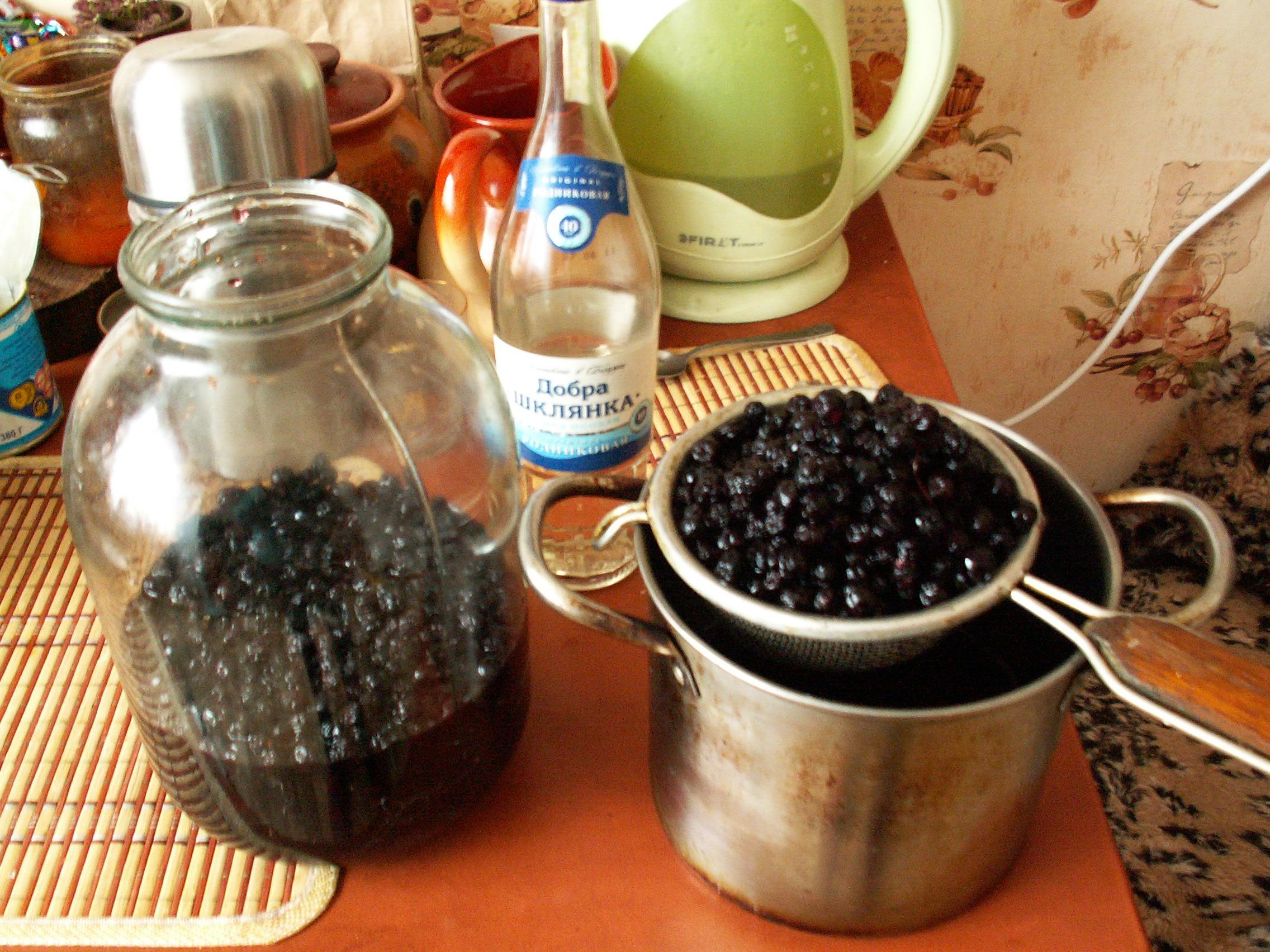 Наливка черноплодная рябина рецепты